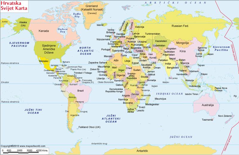 Similiar world map showing croatia keywords karta svijeta world map in croatian gumiabroncs Image collections