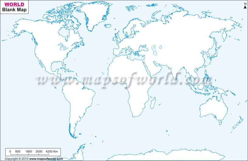 Physical World Map Worksheet With Blank Blank World Map Outline - World map to print a4