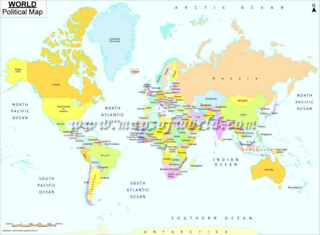 World Map With Major Cities Printable Images - World map to print a4